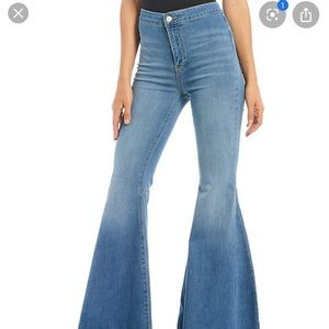 free people light wash flare pant jeans